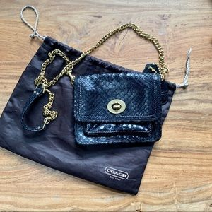 Coach Limited Edition Reptile Embossed Mini Bag